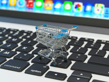 Internet shopping and online purchases concept Royalty Free Stock Image