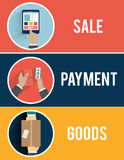 Internet shopping process of purchasing Royalty Free Stock Image