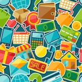 Internet shopping seamless pattern Royalty Free Stock Image