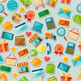 Internet shopping seamless pattern Stock Images