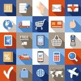 Internet shopping set. Royalty Free Stock Images