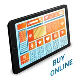 Internet shopping tablet Stock Photo