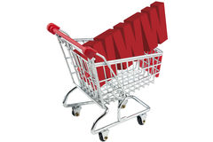 Internet shopping trolley Royalty Free Stock Photo