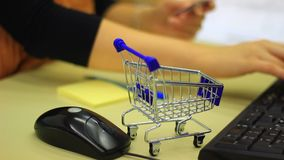 Internet shopping stock footage