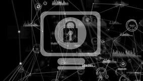 Internet-Sicherheit Ikonen-Video vektor abbildung