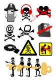 Internet-Sicherheitssymbole stock abbildung