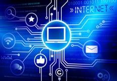 Internet-Sicherheitssystem-Vektor Lizenzfreie Stockbilder