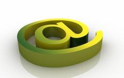 Internet sign. Digital illustration of Internet sign in 3d on white background stock illustration