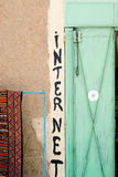 Internet sign. Internet in the desert of Morocco Stock Image