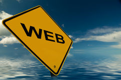 Internet Sign. An Internet sign, against a stunning sky Royalty Free Stock Images