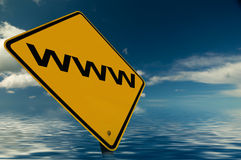 Internet Sign. An Internet sign, against a stunning sky Royalty Free Stock Photos
