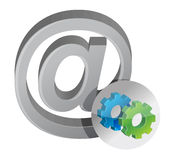 Internet sign and gears Stock Photography
