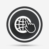 Internet sign icon. World wide web symbol. Royalty Free Stock Images