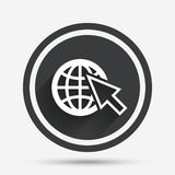 Internet sign icon. World wide web symbol. Stock Photos