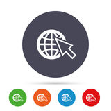 Internet sign icon. World wide web symbol. Stock Photo