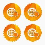 Internet sign icon. World wide web symbol. Stock Image