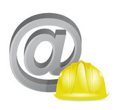 Internet at sign under construction Stock Image