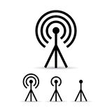 Internet signal antenna icon. S set stock illustration