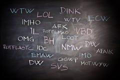Internet slang Stock Photo