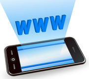 Internet with smart phone Stock Images