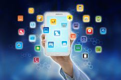 Internet smart phone application Royalty Free Stock Photography