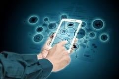 Internet on smart phone stock photos