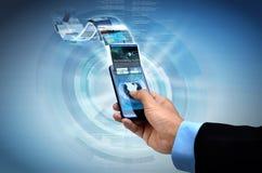 Internet on smart phone Concept Stock Photo
