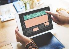 Internet social Blogging de mise en réseau de media de blog reliant Concep images libres de droits