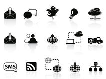 Internet social communications icon set Royalty Free Stock Photography