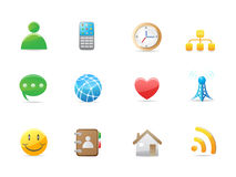 Internet social icon set Royalty Free Stock Photos