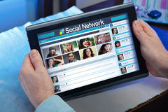 Internet social life Stock Photography