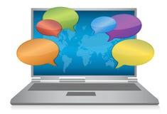 Internet social media concept laptop Royalty Free Stock Image