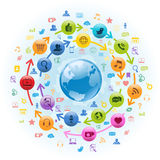 Internet Social Media Globe Royalty Free Stock Photography