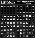 Internet & Social Media - 110 Icons Set Stock Photo