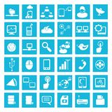Internet, social network icons Royalty Free Stock Image