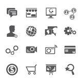 Internet, social network icons Stock Photos