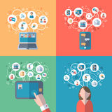 Internet and social networks concept Stock Photo
