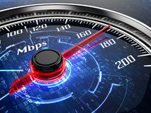 Internet speed. High speed internet connection concept Stock Photos
