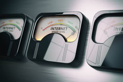 Internet speed level test concept. Maximum position. Royalty Free Stock Photo