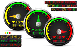 Internet speed test meter Stock Photography