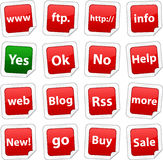 Internet stickers. Royalty Free Stock Image