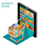Internet store. Vector illustration of online store. Concept Stock Photography