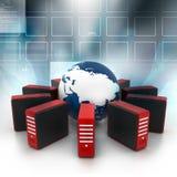 Internet su terra Immagine Stock