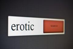 Internet-Suchstange mit der Phrase erotisch lizenzfreies stockbild