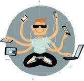 Internet superhero Royalty Free Stock Image