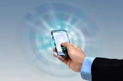 Internet sur le concept de Smartphone images libres de droits