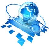 Internet surfing vector illustration