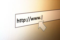 Internet surfing Royalty Free Stock Photography