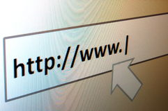 Internet surfing Stock Photography