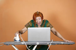Internet surfing Royalty Free Stock Photos